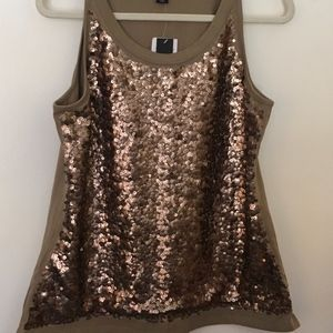 KENNETH COLE Sequin  Sleeveless Tank Top Size XL